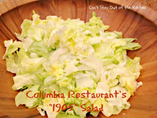 Columbia Restaurant's 1905 Salad - Recipe Pix 23 001