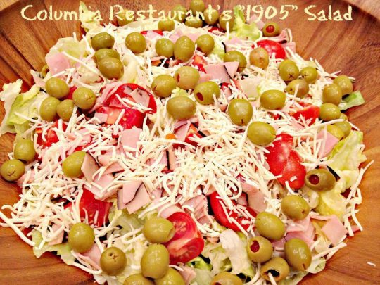 Columbia Restaurant's 1905 Salad - Recipe Pix 23 007