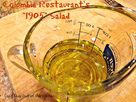 Columbia Restaurant's 1905 Salad - Recipe Pix 23 008