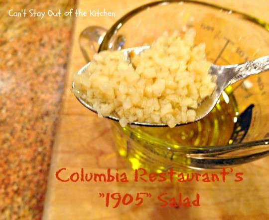 Columbia Restaurant's 1905 Salad - Recipe Pix 23 009