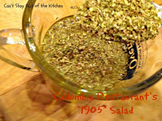 Columbia Restaurant's 1905 Salad - Recipe Pix 23 010