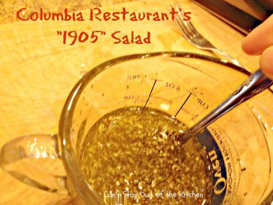 Columbia Restaurant's 1905 Salad - Recipe Pix 23 011