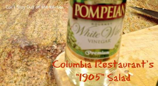 Columbia Restaurant's 1905 Salad - Recipe Pix 23 012