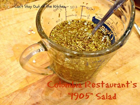 Columbia Restaurant's 1905 Salad - Recipe Pix 23 014