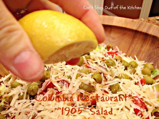 Columbia Restaurant's 1905 Salad - Recipe Pix 23 022