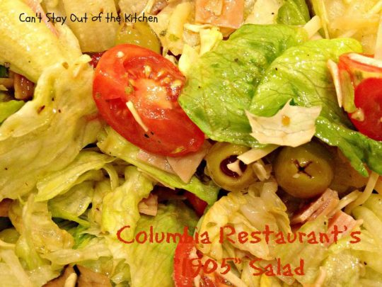Columbia Restaurant's 1905 Salad - Recipe Pix 23 026