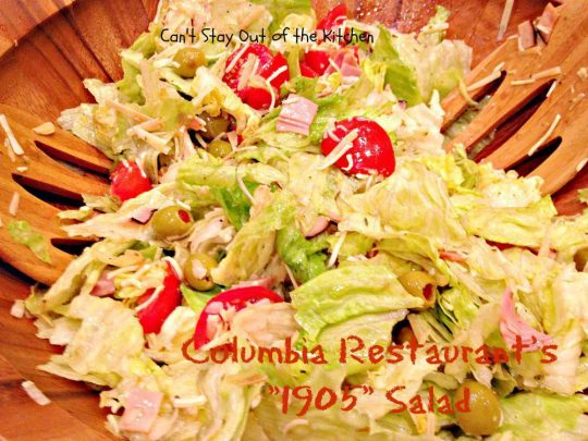 Columbia Restaurant's 1905 Salad - Recipe Pix 23 028