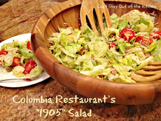 Columbia Restaurant's 1905 Salad - Recipe Pix 23 036