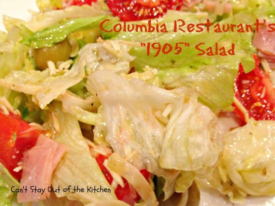 Columbia Restaurant's 1905 Salad - Recipe Pix 23 038