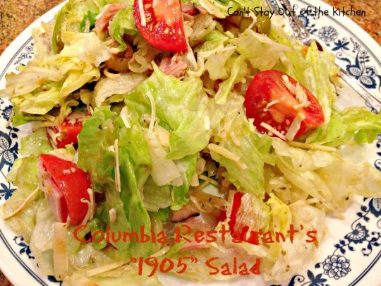 Columbia Restaurant's 1905 Salad - Recipe Pix 23 041