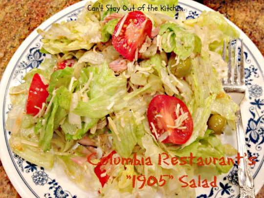 Columbia Restaurant's 1905 Salad - Recipe Pix 23 046
