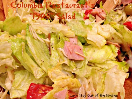 Columbia Restaurant's 1905 Salad - Recipe Pix 23 055