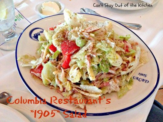 Columbia Restaurant's 1905 Salad - Recipe Pix 23 059