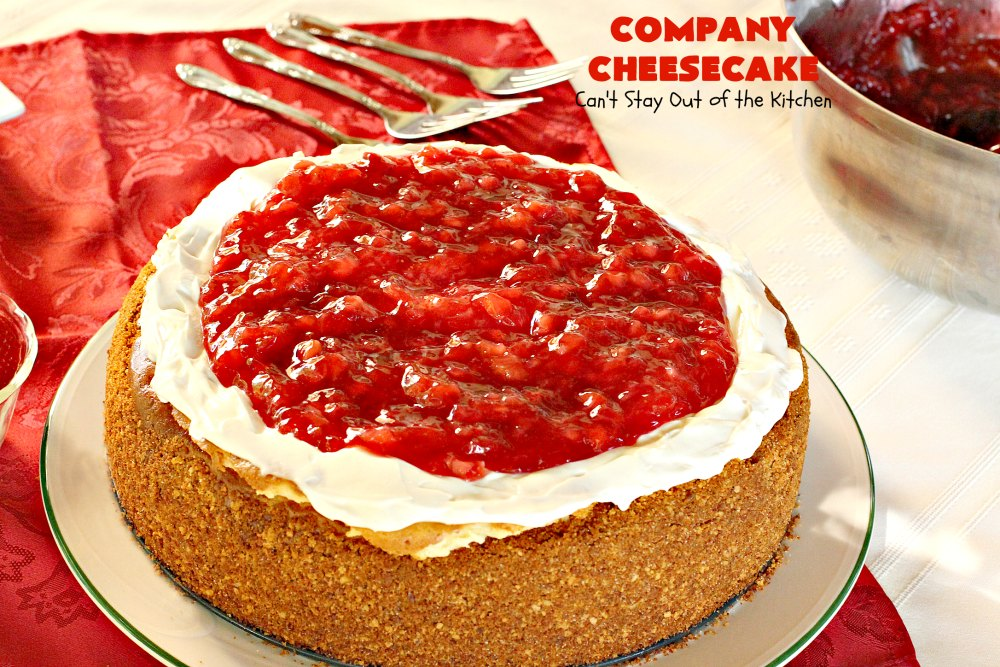 Company Cheesecake Can T Stay Out Of The Kitchen