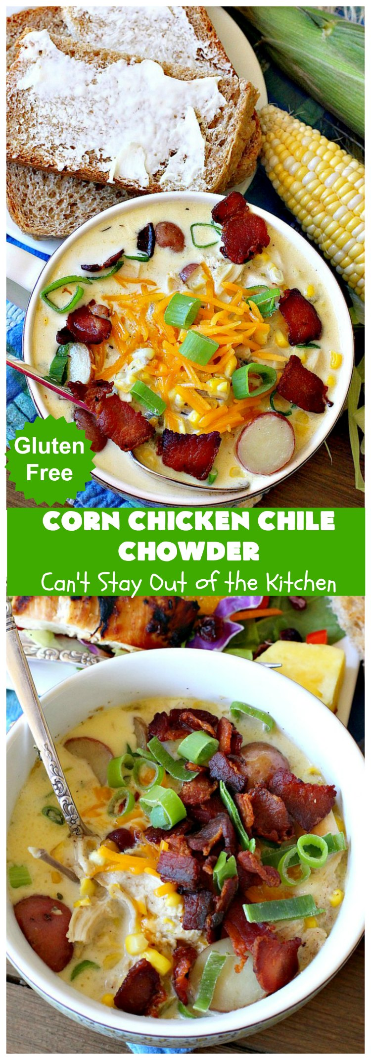 Corn Chicken Chile Chowder | Can't Stay Out of the Kitchen