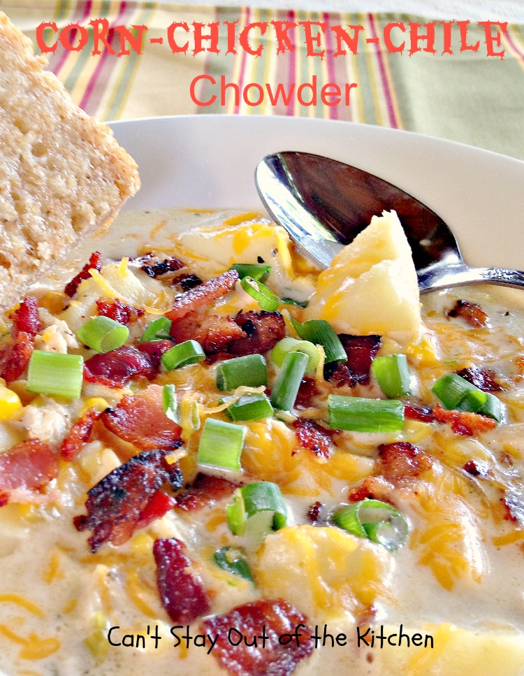 Southern Style Succotash Chowder - Can't Stay Out of the Kitchen