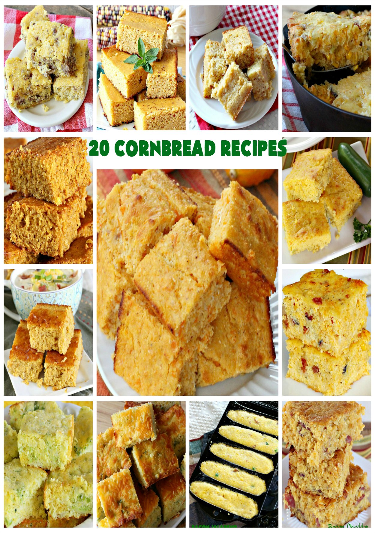 Cornbread Recipes | Can't Stay Out of the Kitchen | 20 of our favorite #cornbread #recipes including several #GlutenFree versions.
