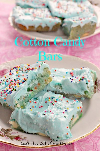 Cotton Candy Bars | Can't Stay Out of the Kitchen
