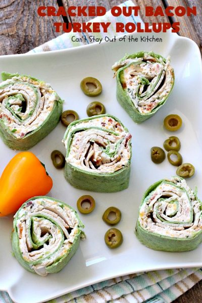 Cracked Out Bacon Turkey Rollups | Can't Stay Out of the Kitchen | these delicious #appetizers are great for #tailgating parties or to serve for #LaborDay weekend. I used nitrate-free #bacon & preservative free #turkey & homemade #Ranchdressing mix to keep these healthier.