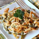 Cracked Out Green Bean Casserole | Can't Stay Out of the Kitchen | you'll never go back to eating classic #GreenBeanCasserole after a bite of this! #RanchDressing makes all the difference. Plus this is a made from scratch recipe without canned soups. Perfect for #holiday menus like #Christmas, #Easter or #Thanksgiving. #Greenbeans #casserole #FrenchFriedOnions
