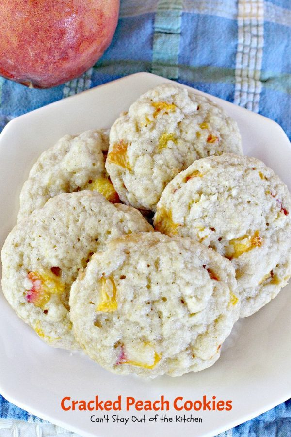Cracked Peach Cookies | Can't Stay Out of the Kitchen