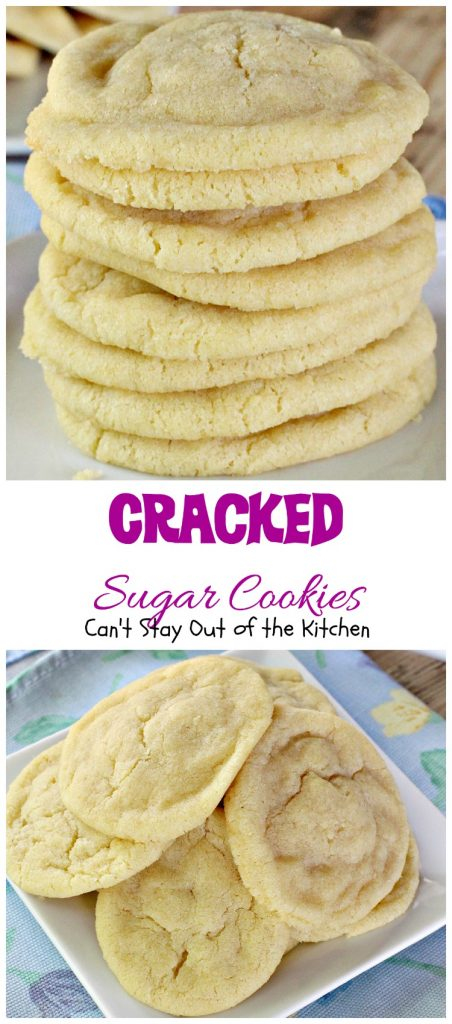 Cracked Sugar Cookies | Can't Stay Out of the Kitchen | most outrageous #sugarcookies ever! These are amazing. #cookie #dessert