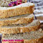 Cracked Wheat Bread | Can't Stay Out of the Kitchen | this delicious #WholeWheatBread includes honey & #CrackedWheat. It's so easy since it's made in the #breadmaker. Wonderful #bread to serve with soup or chili. We also like to eat it for #breakfast served with jellies or jam. #HomemadeBread #CrackedWheatBread #BreadmakerBread