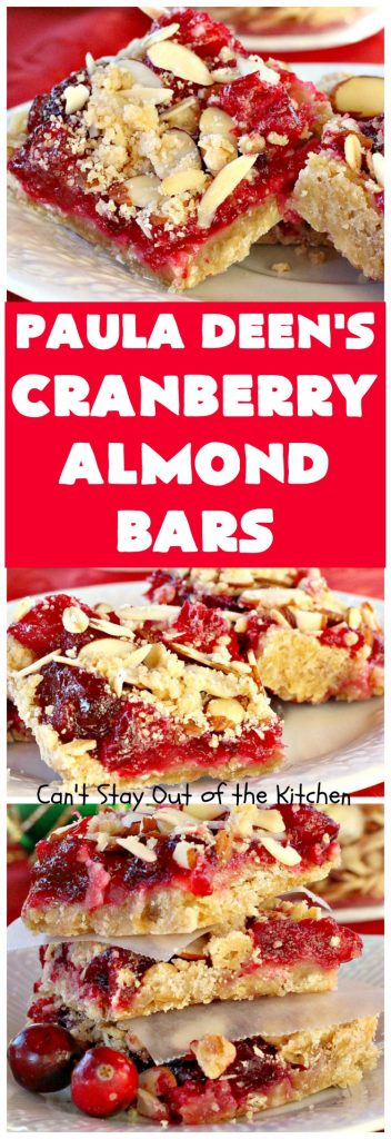 Cranberry Almond Bars | Can't Stay Out of the Kitchen