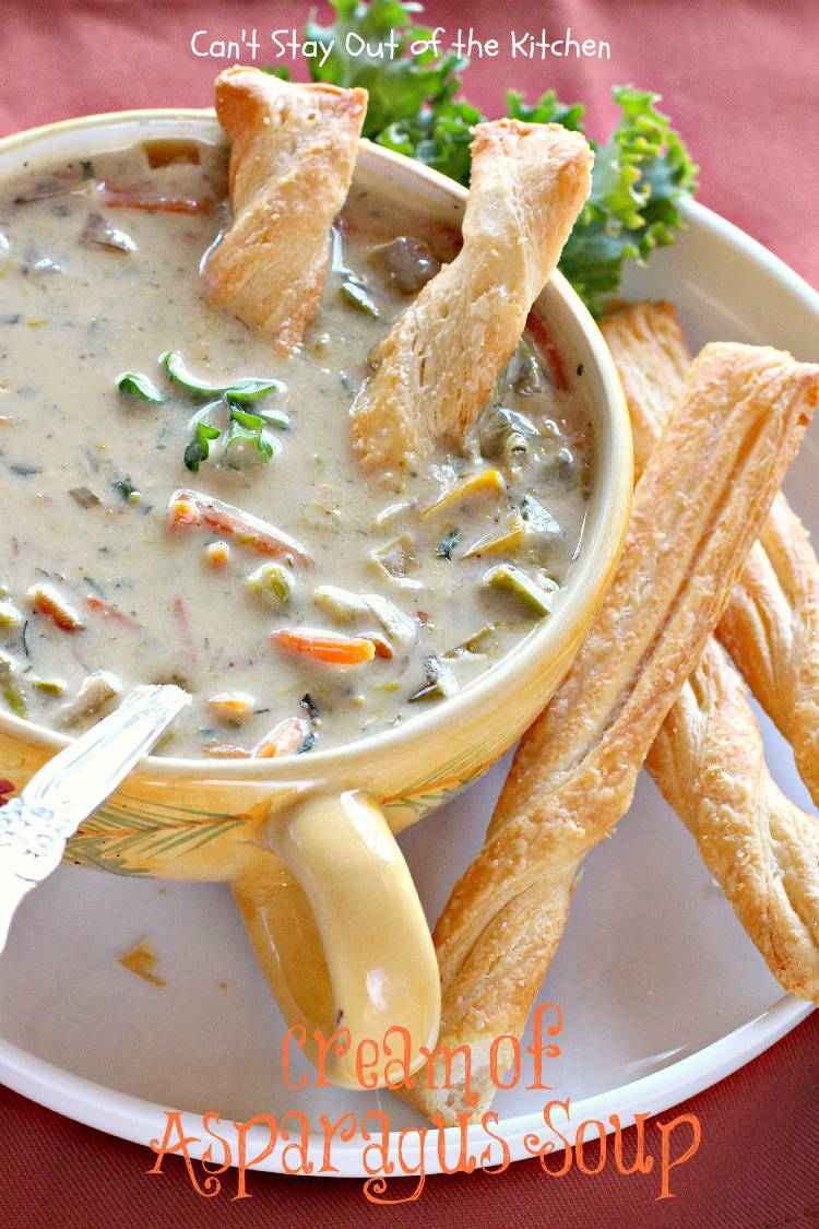 Cream of Asparagus Soup is chocked full of veggies. This is a great ...