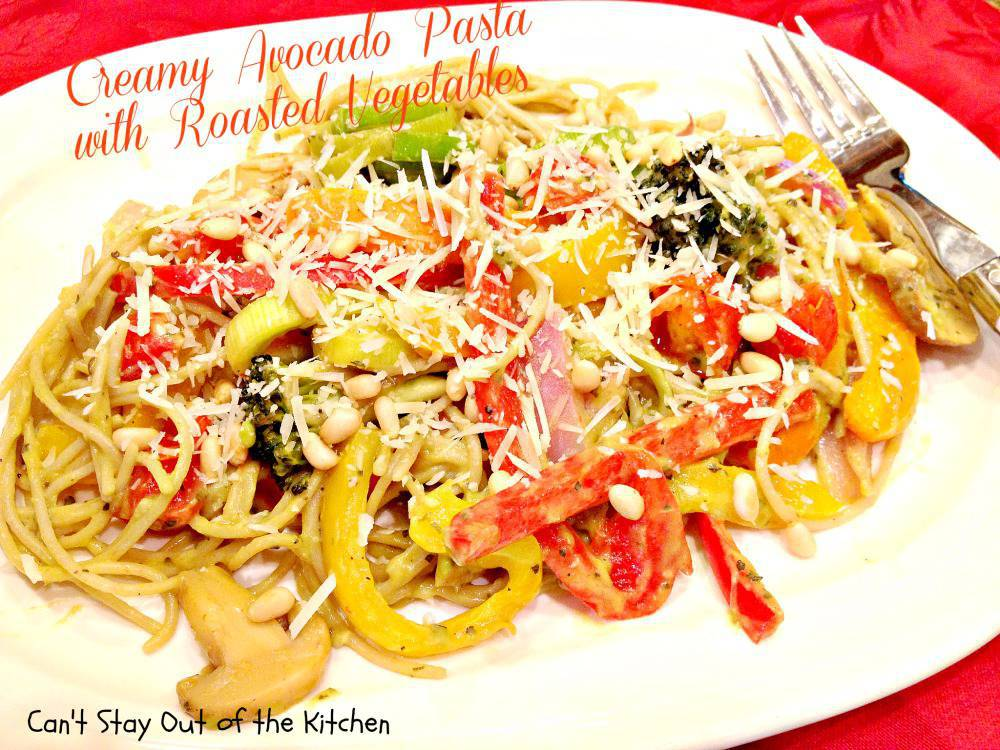 Creamy Bacon Pasta With Roasted Vegetables Recipe — Dishmaps