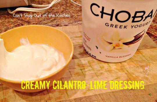 Creamy Cilantro-Lime Dressing - IMG_7723
