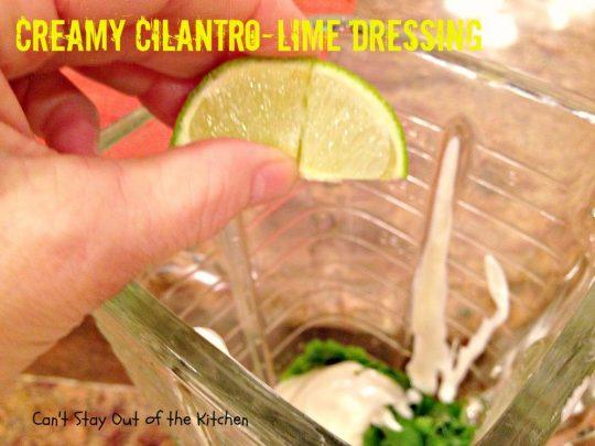 Creamy Cilantro-Lime Dressing - IMG_7724