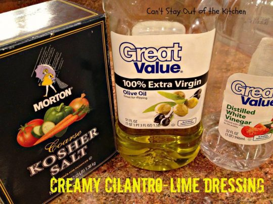Creamy Cilantro-Lime Dressing - IMG_7726