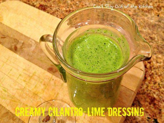 Creamy Cilantro-Lime Dressing - IMG_7728