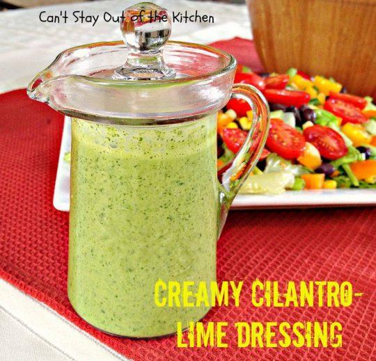 Creamy Cilantro-Lime Dressing - IMG_7762