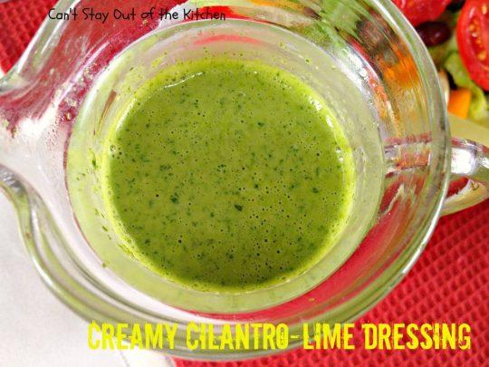 Creamy Cilantro-Lime Dressing - IMG_7765