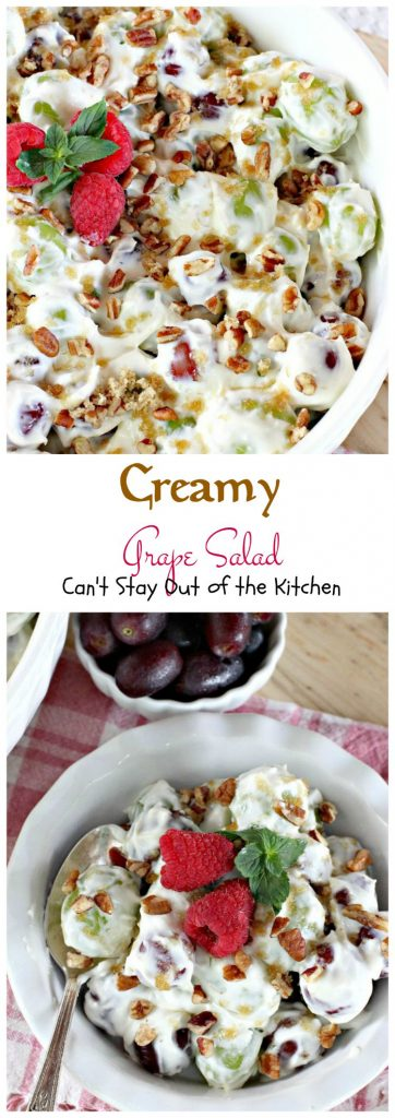 Creamy Grape Salad | Can't Stay Out of the Kitchen
