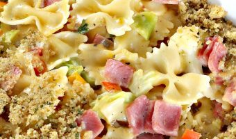 Creamy Ham, Veggie and Noodle Bake
