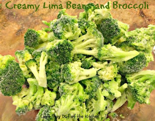 Creamy Lima Beans and Broccoli - IMG_0685