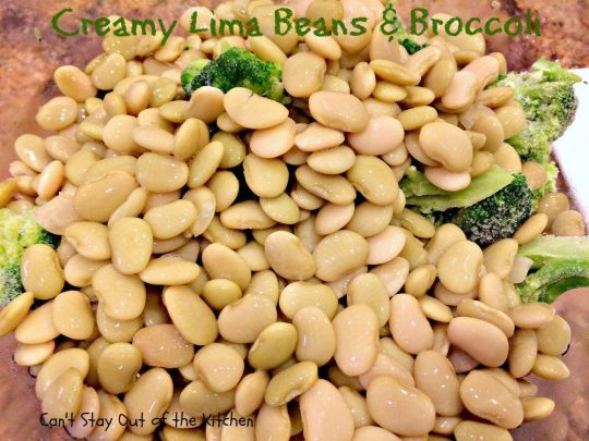 Creamy Lima Beans and Broccoli - IMG_0686