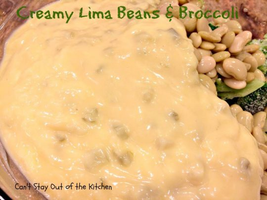 Creamy Lima Beans and Broccoli - IMG_0687