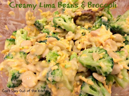 Creamy Lima Beans and Broccoli - IMG_0689
