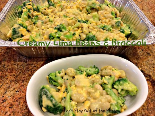 Creamy Lima Beans and Broccoli - IMG_0690
