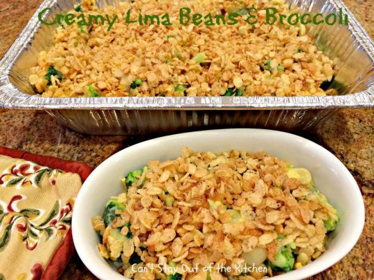 Creamy Lima Beans and Broccoli - IMG_0691