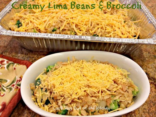 Creamy Lima Beans and Broccoli - IMG_0692