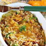 Creamy Lima Beans and Broccoli | Can't Stay Out of the Kitchen | this outrageous #casserole is to die for! Seriously, #LimaBeans & #Broccoli are combined with #CheddarCheese #CreamOfCelerySoup & topped with a #RiceKrispies topping mixed with #Curry. It's a delectable #SideDish for #Holidays like #Thanksgiving or #Christmas. This has always been one of our favorite #recipes. Everyone who's ever tried it, loves this dish. #CreamyLimaBeansAndBroccoli #vegetable