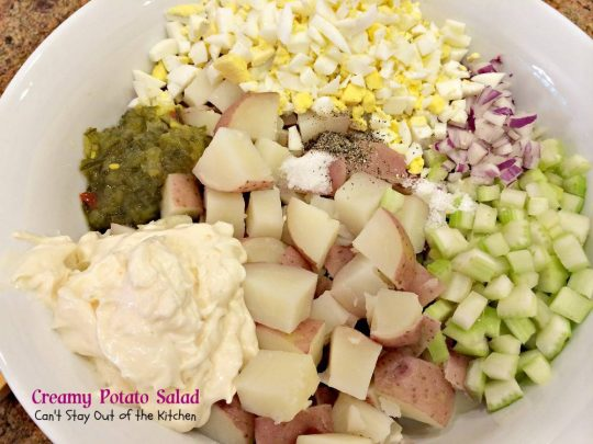 Creamy Potato Salad | Can't Stay Out of the Kitchen | love this fantastic #potatosalad recipe. #glutenfree #potatoes #salad #eggs