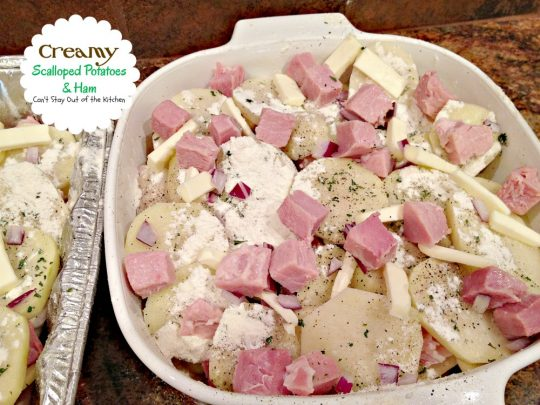 Creamy Scalloped Potatoes and Ham | Can't Stay Out of the Kitchen | this scrumptious #casserole is so creamy and delicious. It's great comfort food any time of the year. #ham #potatoes