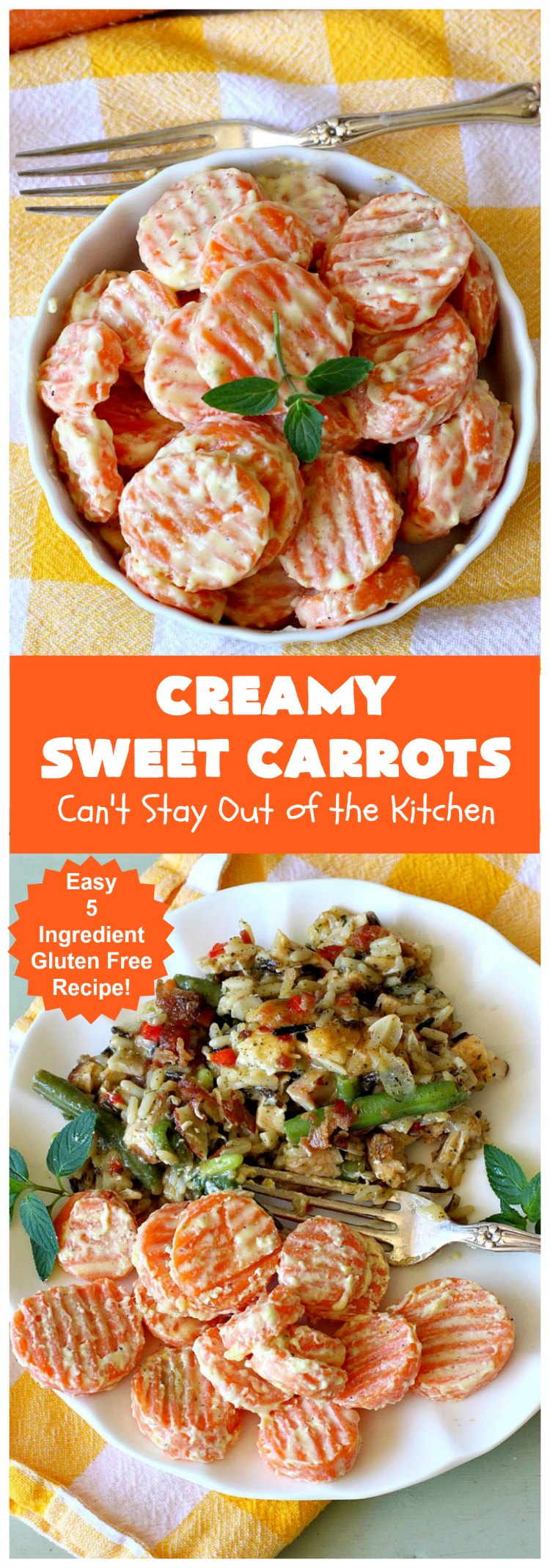 Creamy Sweet Carrots | Can't Stay Out of the Kitchen | easy 5-ingredient #recipe that can be whipped up in 10 minutes! Great for weeknight, company or #holiday dinners. #GlutenFree #Carrots #CreamCheese #CreamySweetCarrots