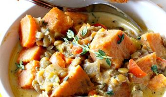 Creamy Sweet Potato Lentil Stew